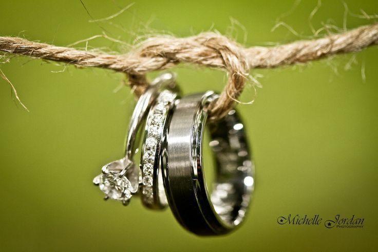 """Tying the knot"" wedding ring shot, cute :)"