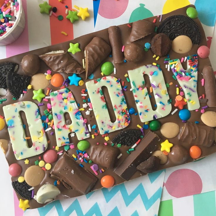 Daddy or mummy chocolate slab with images chocolate