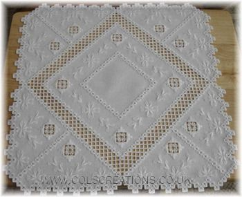 Col's Creations Traditional Hardanger Designs - Stocking Both Easy And More Advanced Embroidery Chart Packs - Charts Can Be Stitched In DMC, Anchor Or Caron Threads.