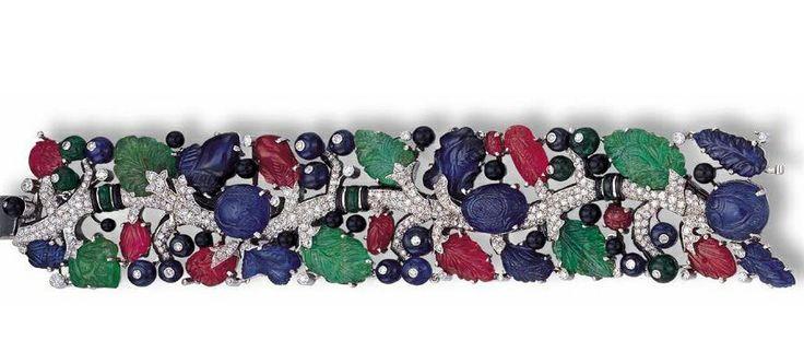 Bracciale Cartier, smeraldi, rubini diamanti e zaffiri...quando un gioiello e' arte....