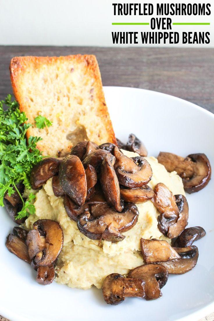 Truffled Mushroom Over White Whipped Beans -TheLocalVegan…
