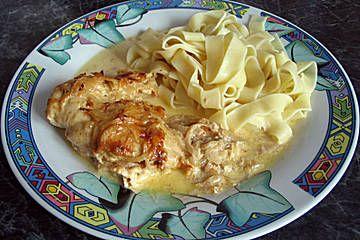 Zwiebel-Sahne Hähnchen
