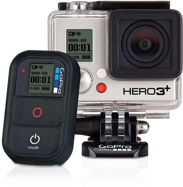 GoPro Hero3+ Black Edition. 4K Res, 12MP Cam, Wi-Fi, and Remote. What's not to love?