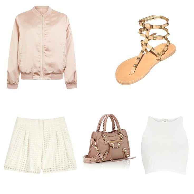 """Christina Fragista """"Paros"""" beige rockstud sandals!"""