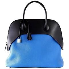 Hermes Paddock Bolide 35 Bag Blue Zanzibar / Blue Indigo Clemence Sombrero