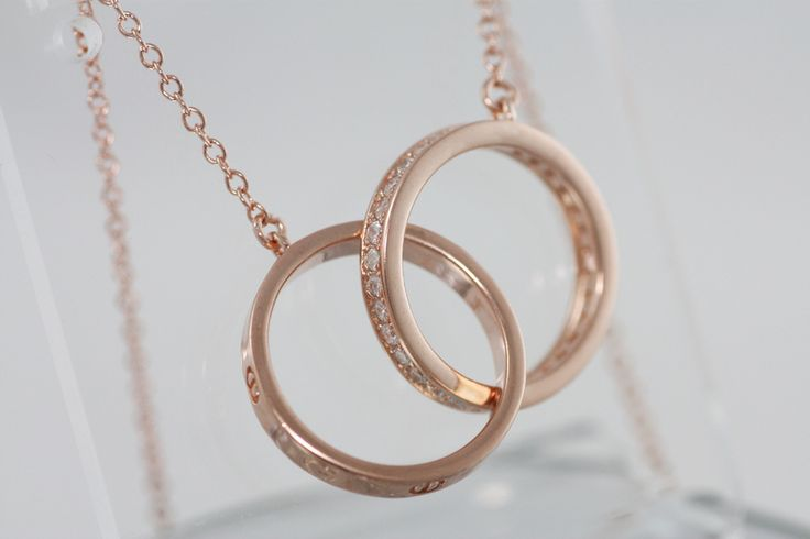 Silver 925 pink-gold plated with zircons