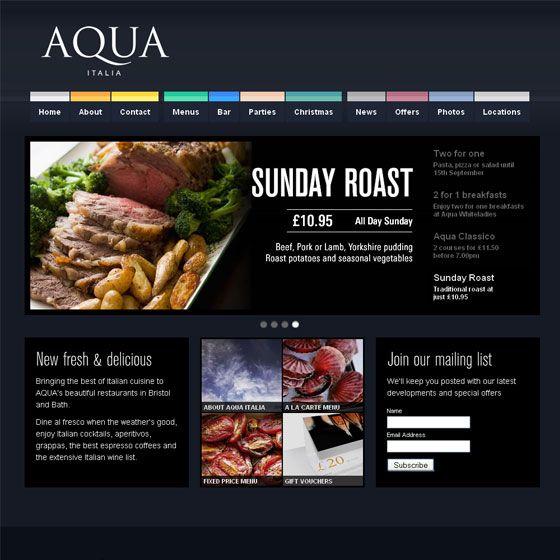 31 best Restaurant Inspired Web Design images on Pinterest ...