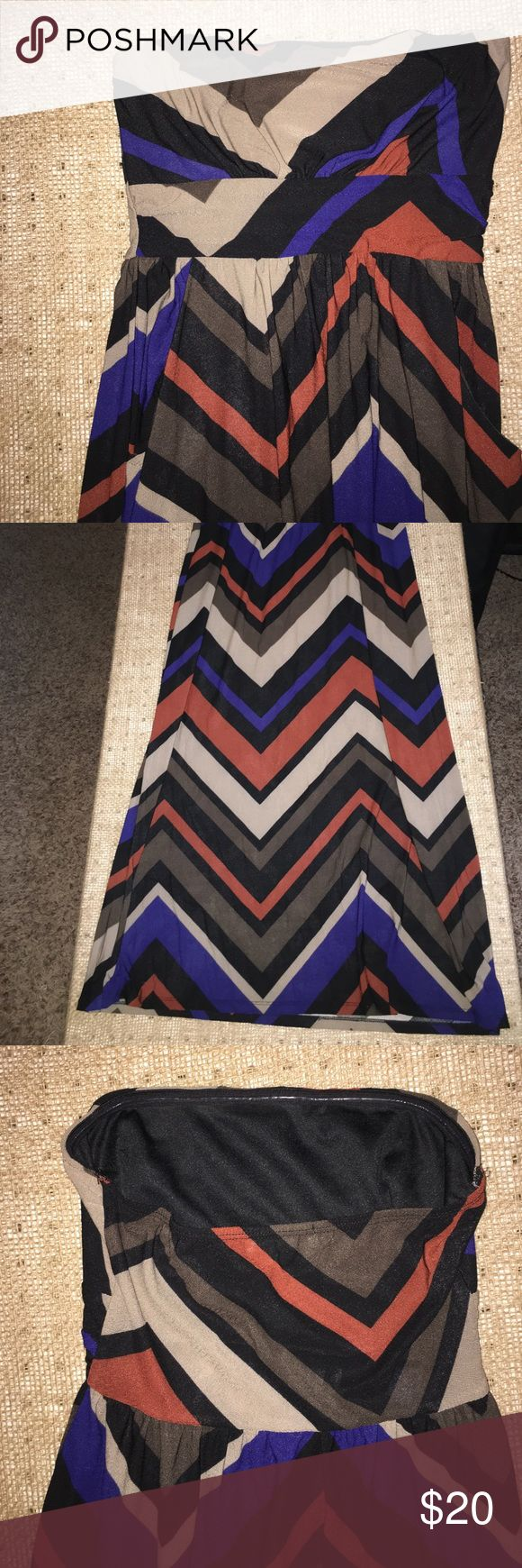 Multi color maxi dress ~With Pockets~ Tube top Multi color long flowing maxi dress with individual pockets, Brand New, No zipper, Size [S] Toska Dresses Maxi