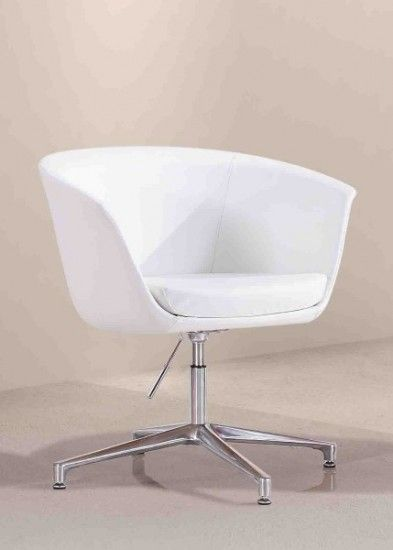 The Demo Guest Chair is a sexy tub style seat sitting atop a polished alloy base, it features adjustable height, swivel and leveling foot plugs, the molded foam Back is designed for comfort and fit #seated #design #office #visitor seated.com.au