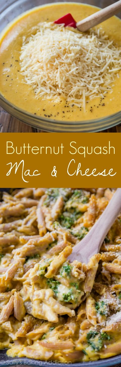 My new favorite way to make homemade macaroni and cheese! Lightened up, but still SO creamy, with butternut squash.