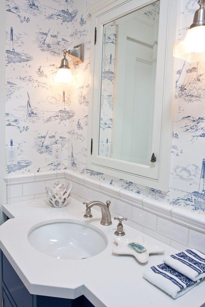 Bathroom Wallpaper With Images Beach Bathroom Decor Nautical
