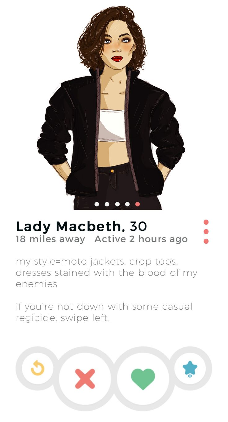 SparkLife » If Shakespeare Characters Had Tinder: Lady Macbeth