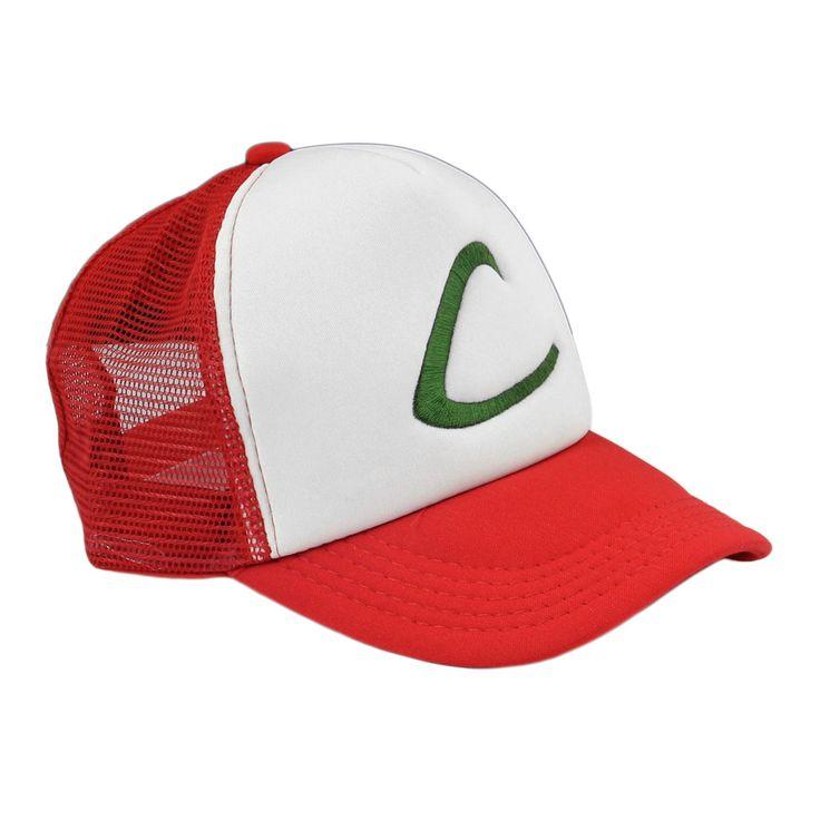 Anime Cosplay Pokemon Pocket Monster Ash Ketchum Baseball Trainer Cap Hat