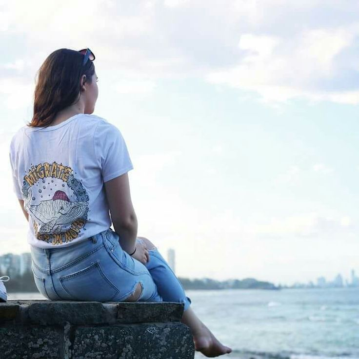 Migaloo the white whale migration women's tees by Drawn Downunder.  SURF | APPAREL | AUSTRALIA  Quality threads, pre-shrunk with cool internal printed tag for comfort and style.  Drawn to good vibes.  Drawn Downunder.  Visit www.drawndownunder.com
