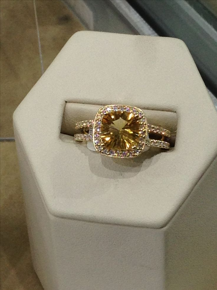 "Exclusively at #Capri #Jewelers #Arizona ~ www.caprijewelersaz.com ♥ ""Citrine engagement ring...I love this!"""