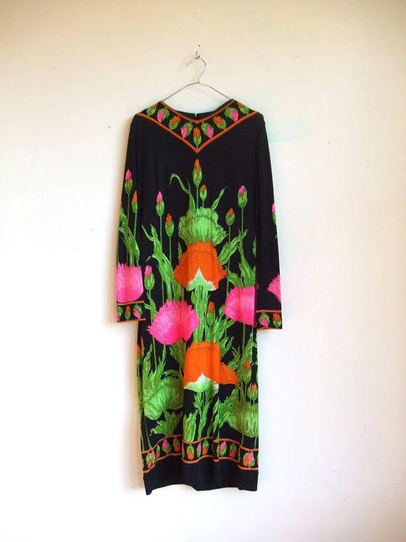 Vintage Mr Dino Dress: Dino Poppies, Fashion, Dino Dresses, Vintage 1960S, Poppy Dresses, Vintage Garment, Poppies Dresses, Hippie Dresses, Vintage 1960 S