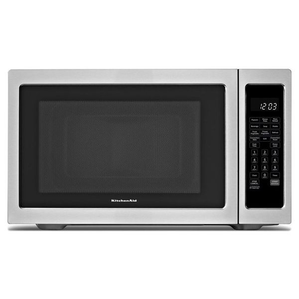 Shop KitchenAid  KCMC1575BSS 1.5-cu ft 1200-Watt Countertop Convection Microwave (Black-On-Stainless) at Lowe's Canada. Find our selection of microwaves at the lowest price guaranteed with price match + 10% off.