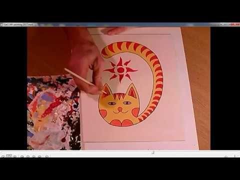 Мастеркласс рисования позитивного кота и сборник из 28 котов