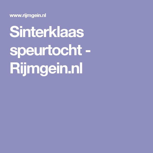 Sinterklaas speurtocht - Rijmgein.nl