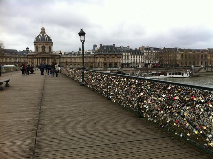 Padlock bridge in Paris 2013