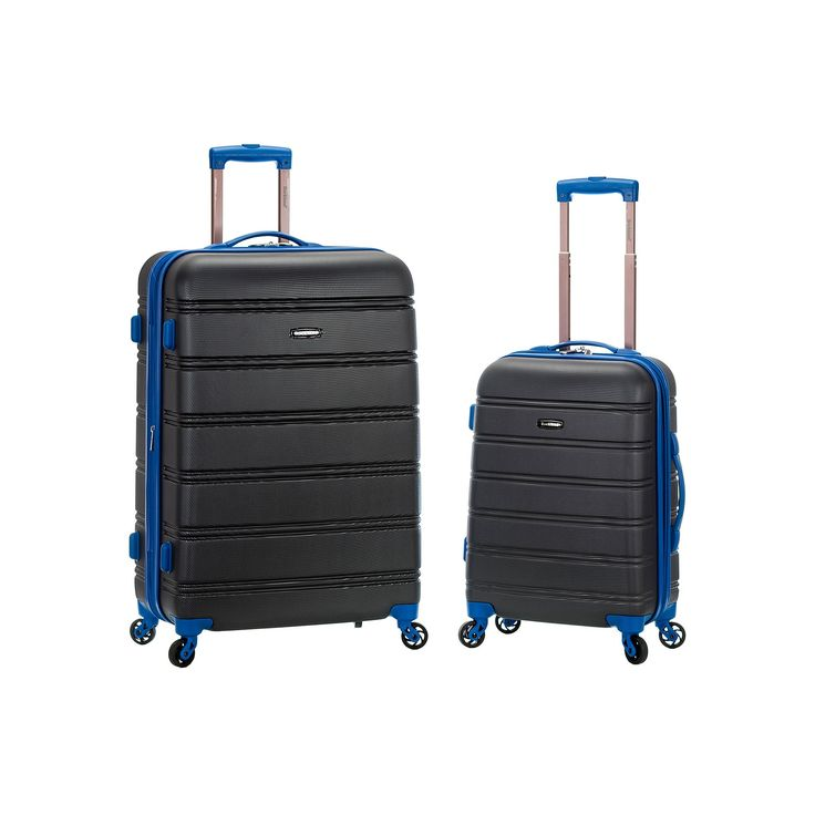 Rockland 2-Piece Hardside Spinner Luggage Set, Grey