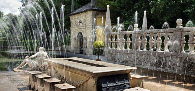 Wasserspiele, Fürstentisch © Schlossverwaltung Hellbrunn
