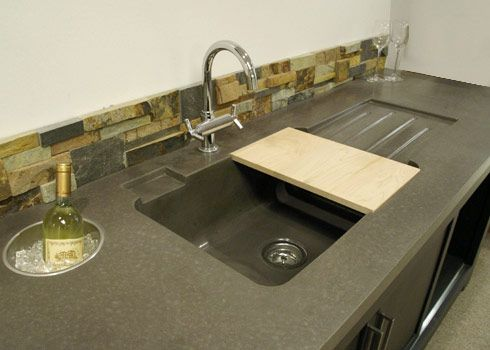Concrete Sink Sinks And Countertops On Pinterest