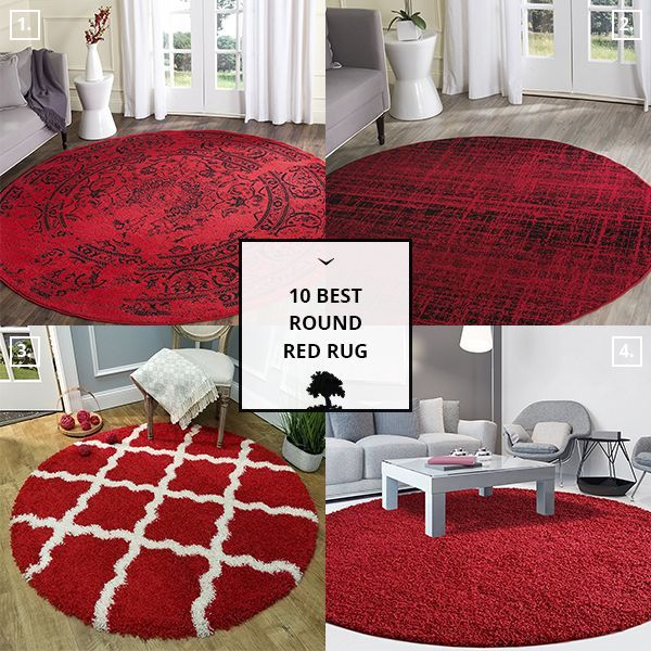 Round Red Rug With Images Rugs Red Rugs Home Decor
