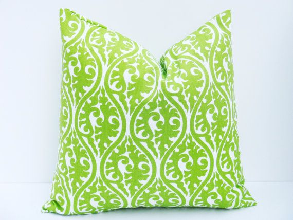 lime green pillowthrow pillow covers euro pillow sham one 24x24 chartreuse pillow damask bright