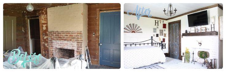 1900 Farmhouse Renovation Bedroom 2 of 3. #farmhouse #kirklands #hobbylobby #hgt…
