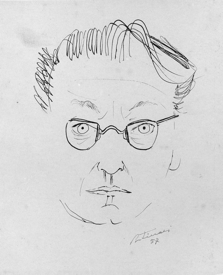 """Auto-retrato, de Portinari - 1956.Acervo digital ©Projeto Portinari  Coleção particular, Rio de Janeiro, RJ.    """"Vim da terr..."""