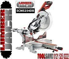 "Lumberjack 10"" 254mm 1500w Double Bevel Compound Sliding Mitre Saw & Laser 240v"
