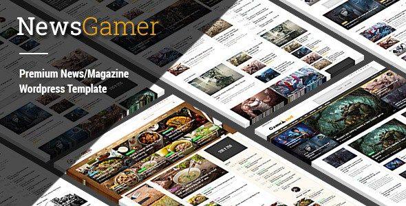 NewsGamer - Premium WordPress News / Publishing Theme Free Download