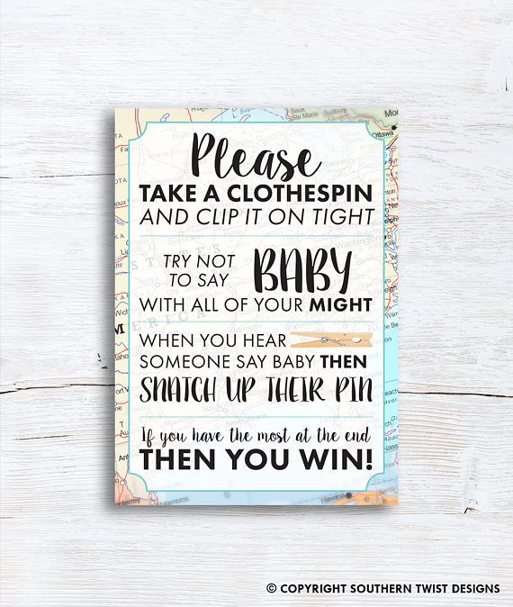 Travel Baby Shower Game Clothespin Game For Baby Shower Game