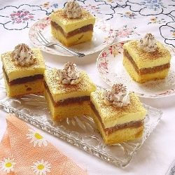 Apple cake with vanilla cream