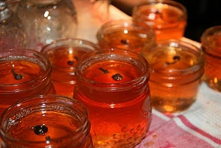 spiced apple rum jelly