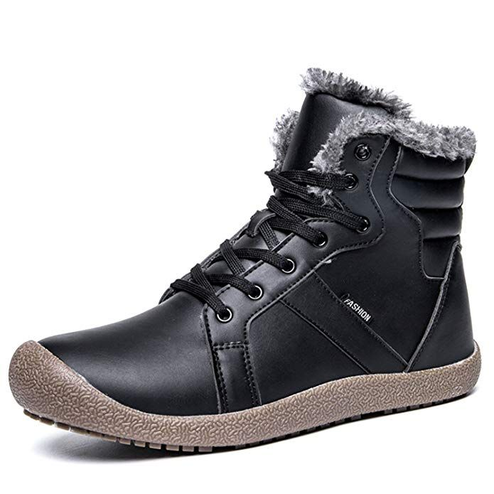 c916daed819 Fashiontown Mens Lightweight Winter Snow Boots Lace up Ankle Bootie Outdoor  Warm Plush Shoe Women Review