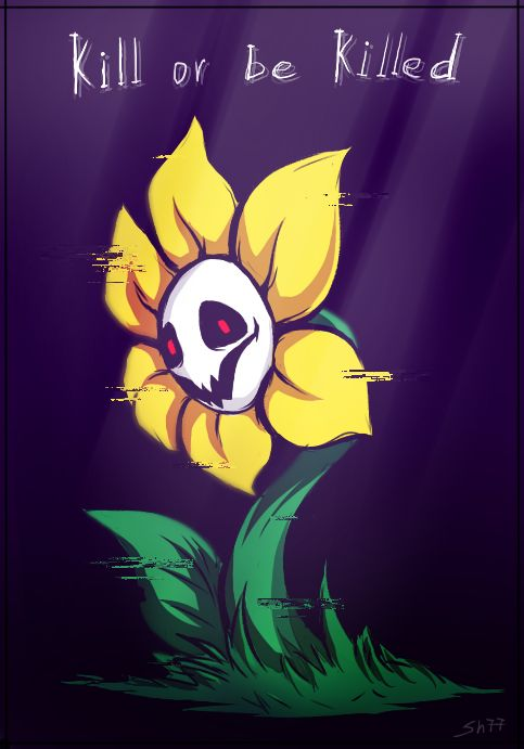Flowey the Flower by Shadreym.deviantart.com on @DeviantArt