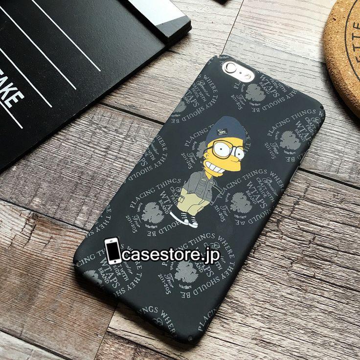 シンプソンズiPhoneX/iPhone8Plus/8/7/6sケースブランドお揃いおしゃれiphone7ケースおすすめダブルタップス日本ファッションブランドwtaps iPhone6sアイフォン7plusザ・シンプソンズハード携帯カバーマット手触り