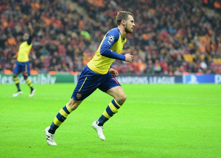 Aaron Ramsey Photos: Galatasaray AS v Arsenal FC