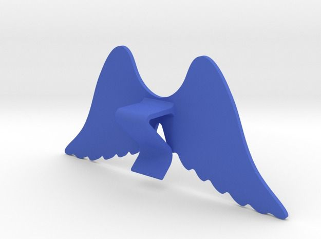 Mug & glass accessories wings 4 3d printed Accessories For Your Home Blue Strong & Flexible Polished - https://www.shapeways.com/model/2758955/mug-glass-accessories-wings-4.html?materialId=6