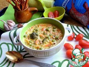 Рецепт: Сливочный гречневый суп