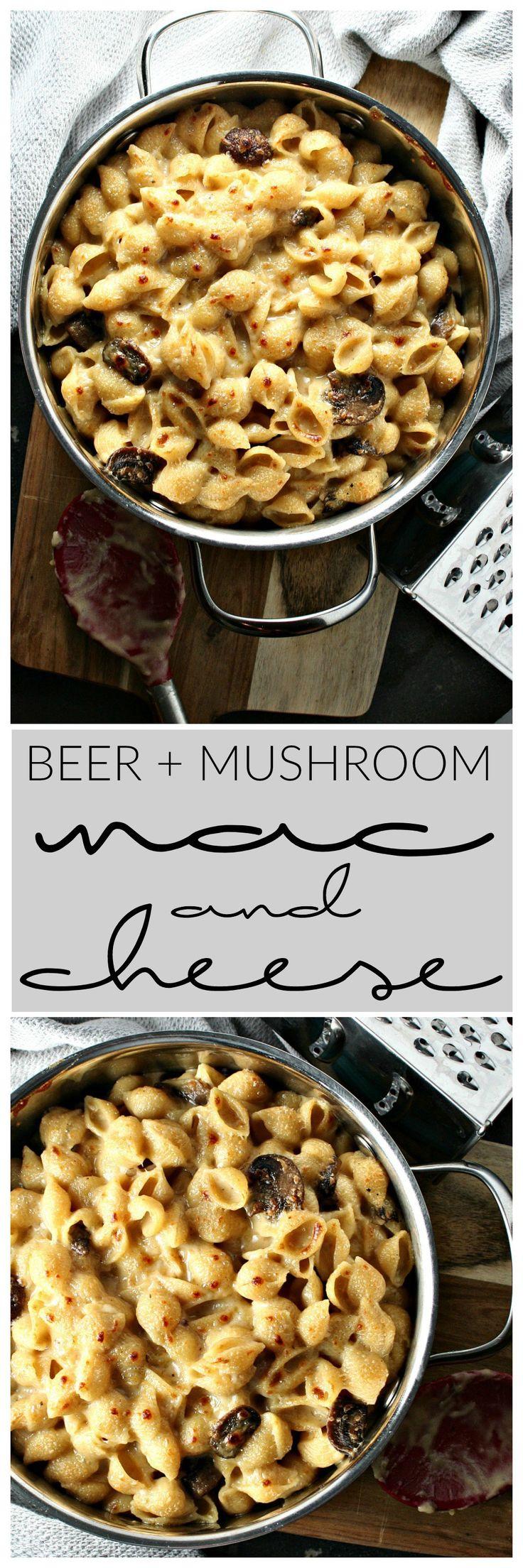 Beer and Mushroom Mac and Cheese | Killing Thyme