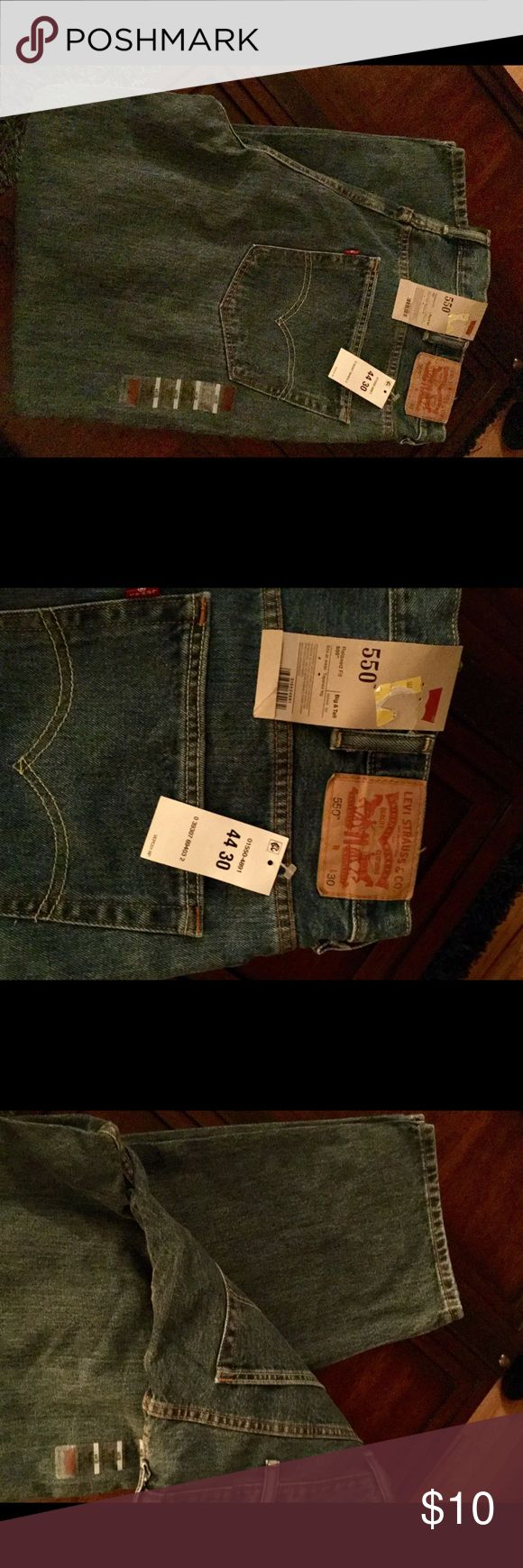 Levi's 550. Big and Tall jeans Regular denim color, picture 4 is the color. Size 44x30. Levi's Jeans Relaxed