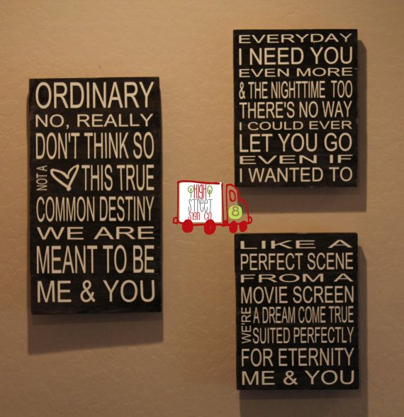Me and You by KENNY CHESNEY Lyrical Sign by HighStreetSignCo