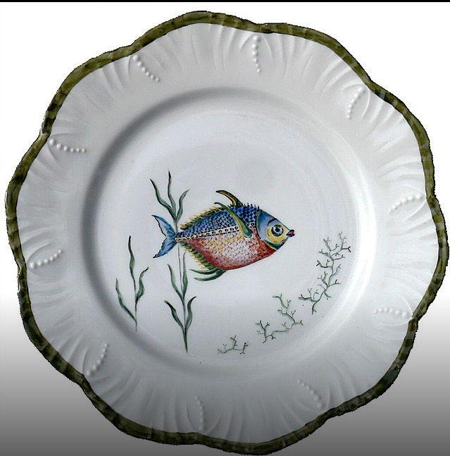 les 1211 meilleures images du tableau porcelaine mer coquillages et poissons sur pinterest. Black Bedroom Furniture Sets. Home Design Ideas