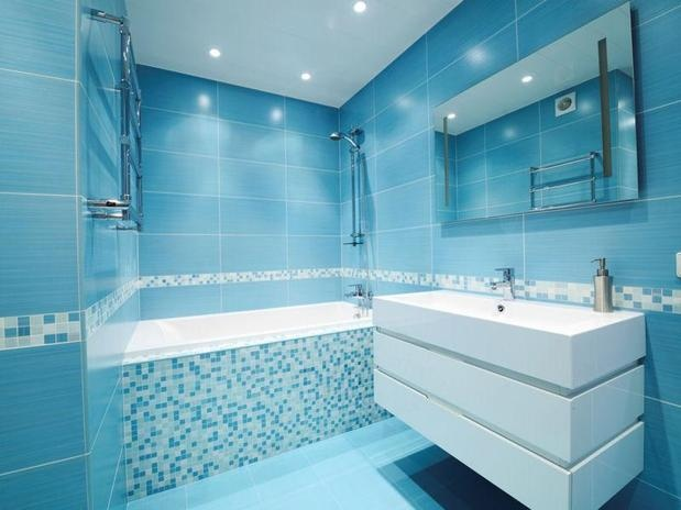 17 mejores ideas sobre cuartos de ba o de azulejos de - Mosaico para banos ...
