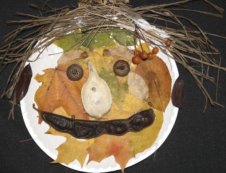 """Classroom Freebies: Leaf Activities Take your students on a nature walk for all sorts of across-the-board curriculum extensions, then send home a paper plate for a wonderful Home-School Connection assignment called """"Making A Nature Face"""" then wait to ooh and ahh when the creative creations come in! Do this next year instead of traditional pumpkin/jack-o-lantern"""