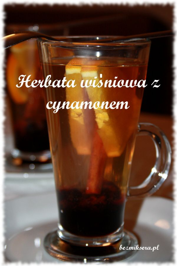 Herbata wiśniowa z cynamonem