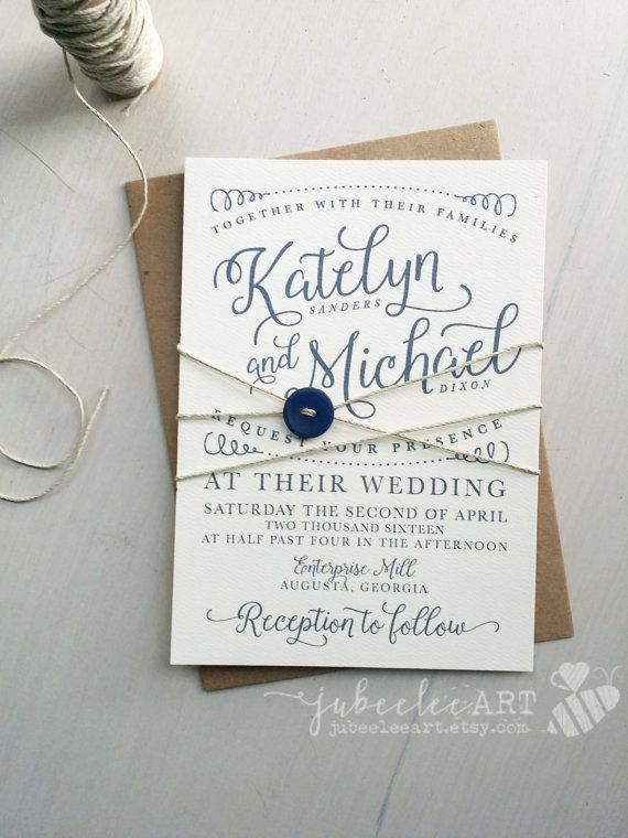 modern calligraphy save the date printable by JubeeleeArt on Etsy